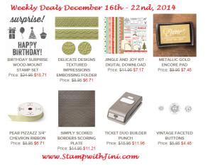 Weekly Deals December 16 2014