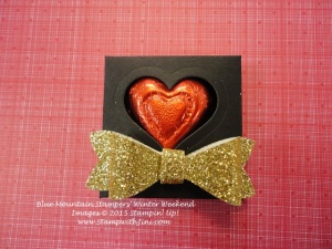 Bow Builder Punch Valentine treat