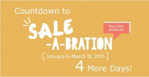 Sale-a-bration count down 4 days