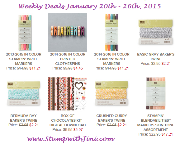 Weekly Deals Jan 20 2015