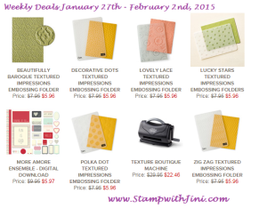 Weekly Deals Jan 27 2015