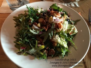BJ's Restraunt Brewhouse Kale & Roasted Brussel Sprout Salad
