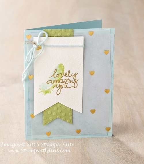 Lovely Amazing you card sample 2