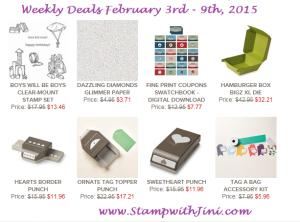Weekly Deals Feb 3 2015