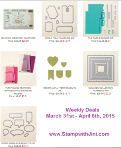 Weekly Deals March 31 2015