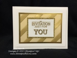 Sale-a-bration Celebration Invitation March Paper Pumpkin and gold