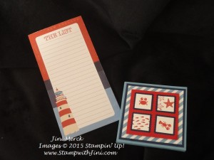 Sea Street Memo Pad Holder