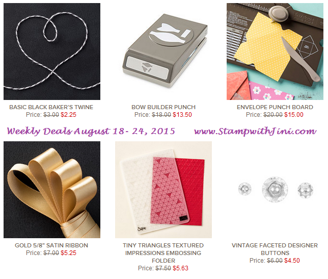 Weekly Deals August 18 2015