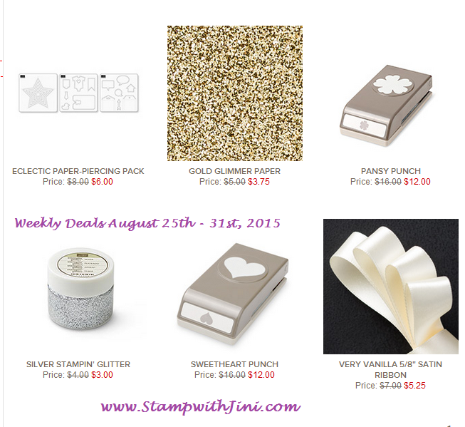 Weekly Deals August 25 2015