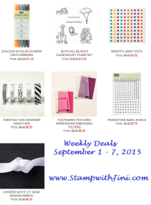 Weekly Deals September 1 2015