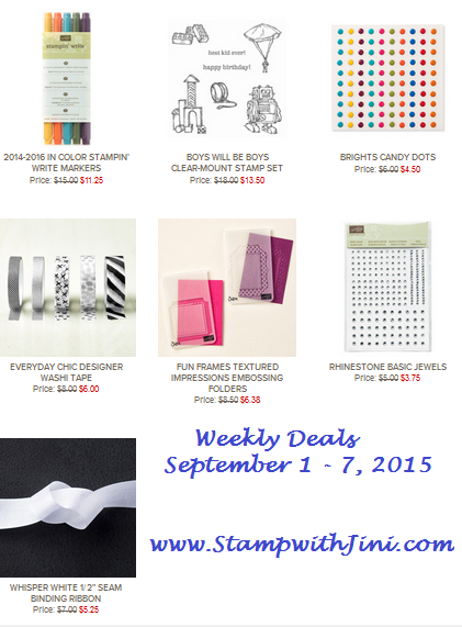 Weekly Deals September 1 2015