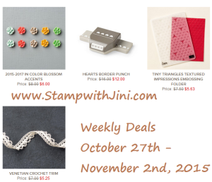 Weekly Deals October 27 2015