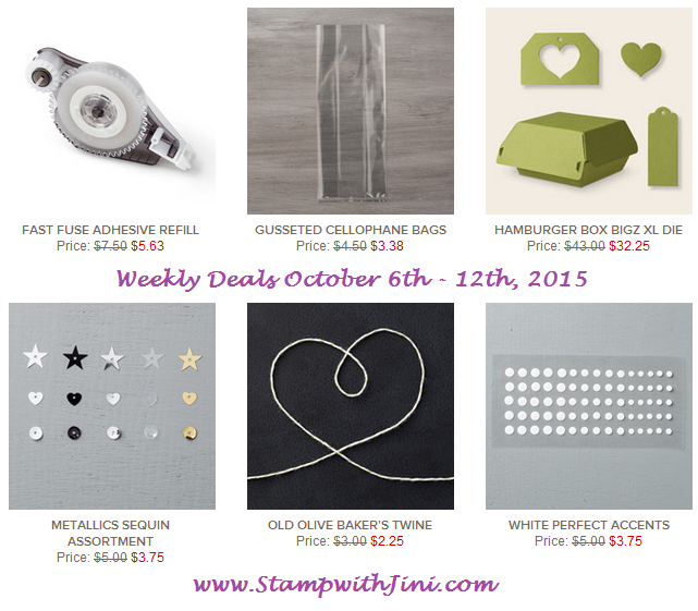 Weekly Deals October 6 2015