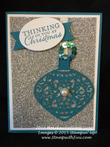 Embellished Ornament SC swap 2015