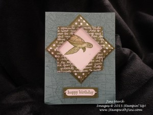 From Land to Sea Folded Frame OnStage Sherrie Shoebox Swap 2015