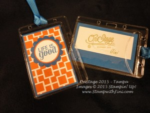 On Stage Tampa 2015 bag name tags