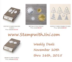 Weekly Deals November 10 2015