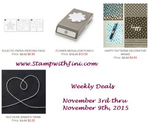 Weekly Deals November 3 2015