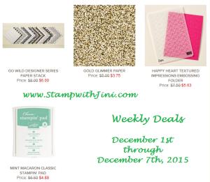 Weekly Deals December 1 2015