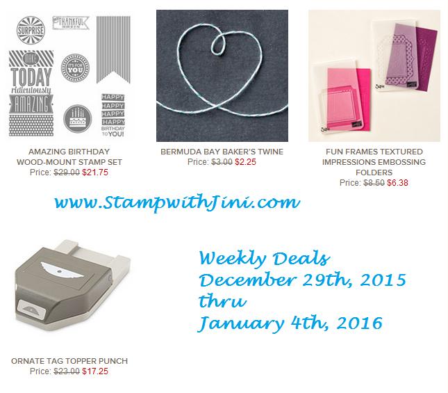 Weekly Deals December 29