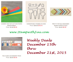 Weeky Deals December 15th 2015