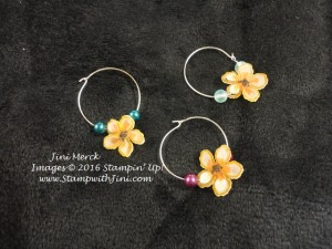 Botanical Blooms Wine Charms