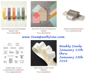 Weekly Deals January 12 2016