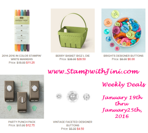 Weekly Deals January 19 2016