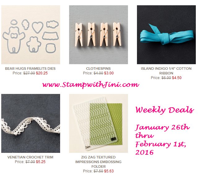 Weekly Deals January 26 2016