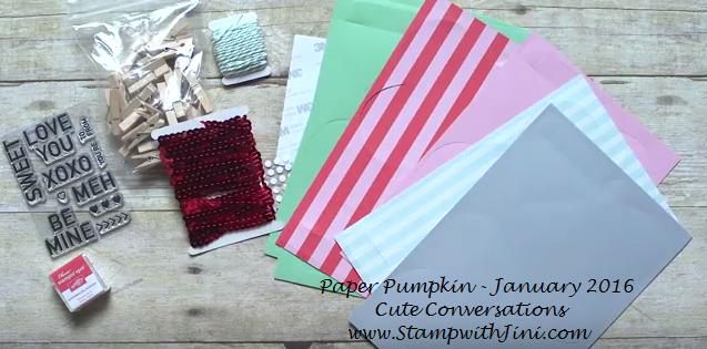 Paper Pumpkin Cute Conversation Kit Contents