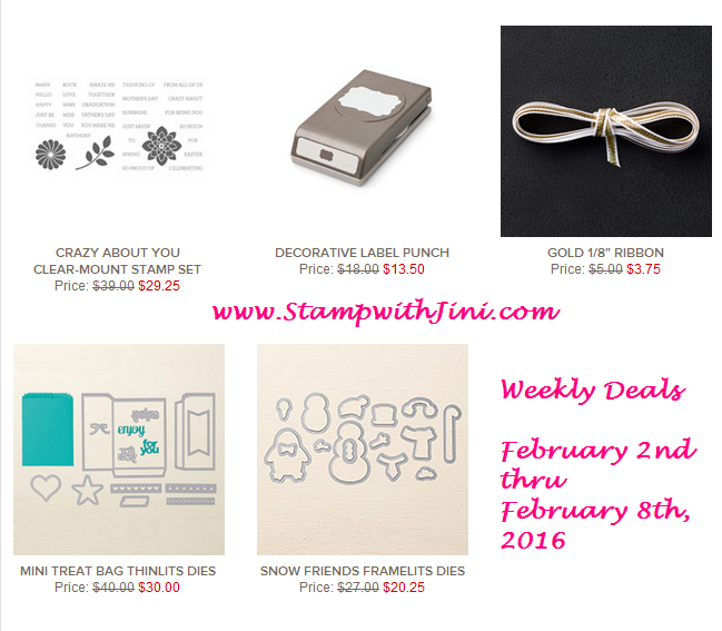 Weekly Deals February 2 2016