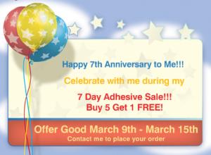 Anniversary Adhesive Sale