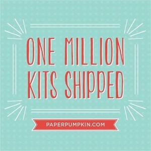Paper Pumpkin 1 million shipped image