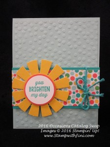 Sunburst Sayings SC Occasions Swap 2016