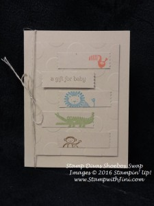 Zoo Babies Stamp Divas Shoebox swap March 2016