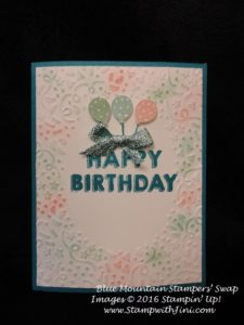 Party Wishes Blue Mountain Stampers May Swap 2016