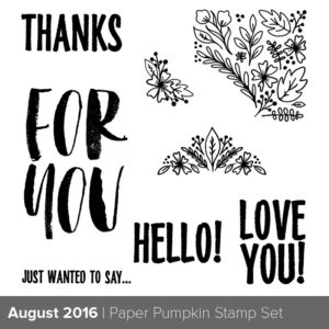 August 2016 Paper Pumpkin stamp set