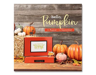 Paper Pumpkin Hello Pumpkin